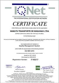 Certificação ISO 9001:2015 - IQNet